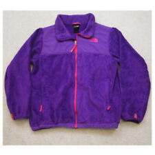 The North Face Purple Girls Fleece Jacket Coat Zip Front Polyester XL X-Large 18