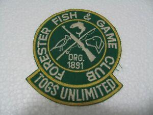 TOPPA - Patch  ricamata  -  CHEVIGNON  Forester  Fish -  Cm. 9 x 11   Iron on
