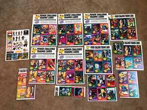 Lot Of Nintendo Power Challenge Trading Cards. Uncut Sheets From Magazine.