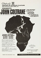 JOHN COLTRANE - Olatunji, New York 1967 - Vintage Concert Music Poster