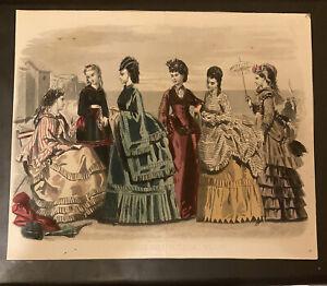 Vintage Print,LES MODES PARISIENNES PETERSON'S MAGAZINE, August 1870 France