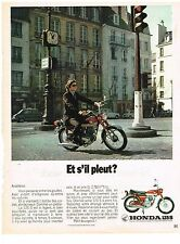 PUBLICITE ADVERSTISING  1972   HONDA 125 S     scooter