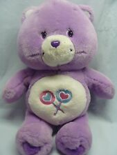 "Care Bear Share Bear 14"" Rare Purple Plush 2002 Lollipops"