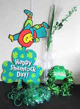 5 pc St Patricks Day Decor Sign 25 ft Wire Garland Beads Floral Streamer FREE SH