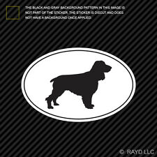 Field Spaniel Euro Oval Sticker Die Cut Decal Self Adhesive Vinyl dog canine pet