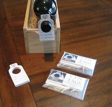 Wine storage tags, Vin Tags, 2 packs of 50 wine tags. Organise cellar & racks