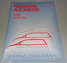Stromlaufpläne Elektrik Wiring Diagrams Nissan Axxess (Prairie) M11 4WD SGL 1990