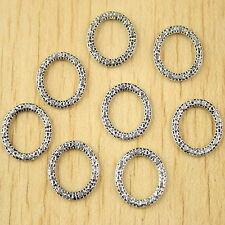 4 New Charms Round Flower Tassels Tibetan Silver Tone Pendants 28x55mm