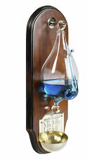Weather Storm Glass Wooden Wall Plaque Barometer Instrument Nautical Decor New
