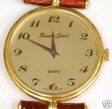 Man's 18K Gold BUECHE GIROD Strap Watch, Quartz NOS