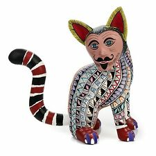 NAHUAL JAGUAR Oaxacan Alebrije Wood Carving Mexican Folk Art Sculpture Painting