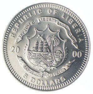 2000 Liberia 5 Dollars - Wright Brothers - TC *890