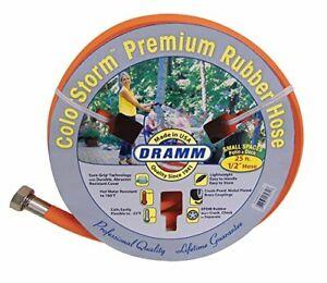 "Dramm 17032 ColorStorm Premium Rubber Garden Hose 1/2"" x25' Orange"