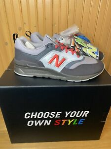 New Balance 997 × NEW ERA Sz 9.5 Mens Red Gray Multicolor Shoes Special Box