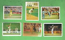 #D411.  6. SIX(6) 1985-86 DOUBLE TROUBLE CRICKET CARDS, #5, 8, 18, 28, 34 & 35