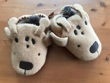 Baby age 6-12 months (size 3) Felt Giraffe Pram Shoes by NEXT *NEW+TAGS*