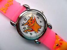 New Great  Kids 3D POKEMON PIKACHU  Silicon // Jelly  Watch   Pink Strap