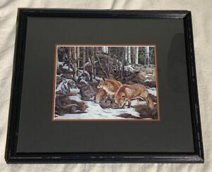 """Judy Larson """"WHEREWOLVES""""  Framed Artist Sample Picture"""