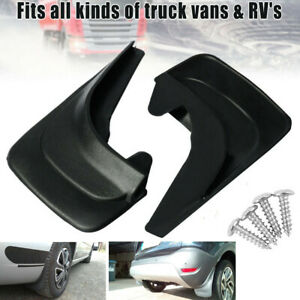 2x Car Mud Flaps Splash Guard Fenders Front or Rear Protector Universal Fit