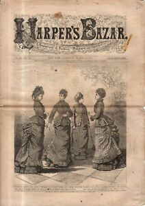1876 Harper's Bazar March 18 - Chest protector; House and Ball Toilettes; Cravat
