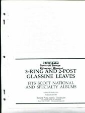 SCOTT National Specialty About 100 Glassine Pages Square 2 Post & 3 ACC107