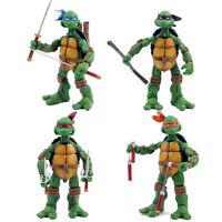 4PCS Newest Teenage Mutant Ninja Turtles TMNT Set Action Figures Colorful Toy