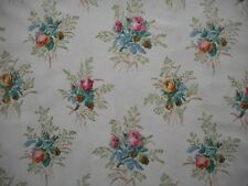 Beautiful unused vintage 40's 50's Sanderson floral cotton fabric, 1M lengths