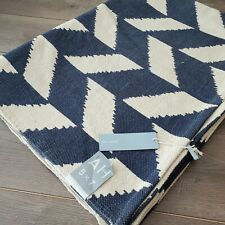 NWT Urban Outfitters Assembly Home Navy Blue Herringbone Printed Area Rug  5x7