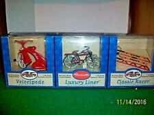 1998 Brunswick Corp 3 Assorted 1/20 Scale Model Ornaments Including Velocipede