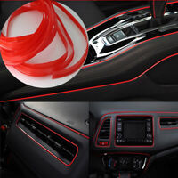 5M SUV Car Interior Decor Red Point Edge Gap Door Panel Accessories Molding Line