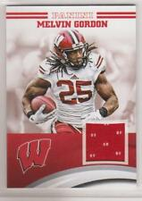 2015 PANINI UNIVERSITY OF WISCONSIN MEMORABILIA MELVIN GORDON #MGWIS