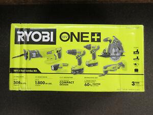 BRAND NEW-Ryobi P1819 18V ONE+ Cordless 6-Tool Combo Kit