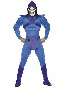 Heman Masters of the Universe Villain SKELETOR Fancy Dress Costume 80s Cartoon