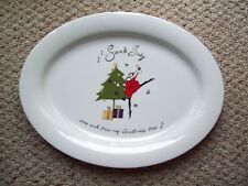 Pottery Barn Santa Baby Large Platter Serving Tray Christmas Holiday