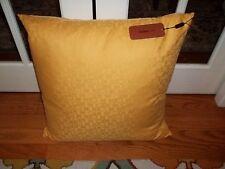 NWT Missoni Golden Yellow Logo Monogram 22x22 Decorative Pillow Cushion