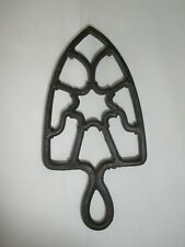 Antique Trivet STAR Pattern Cast Iron Decorative Iron Stand Possibly Grey Iron