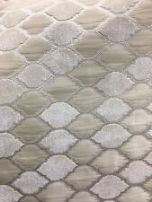 Ivory Beige Diamond Chenille Upholstery Brocade Fabric (54 in.) Sold Bty