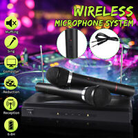 500CH Wireless Microphone System 2 Cordless Handheld Dynamic Mic Karaoke KTV  V