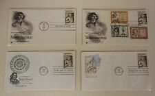 Nicolaus Copernicus Lot of 4 USA  FDC's from 1973. Nice condition!