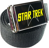 Star Trek logo Belt Buckle Bottle Opener Adjustable Web Belt