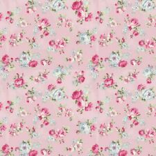 Cottage Shabby Chic RURU Bouquet Rose in Paris Small Roses RU2370-15C Pink BTY