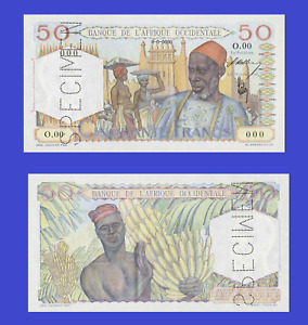 French West Africa 50 francs 1944 UNC - Reproduction