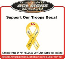 Support Our Troops Decal Sticker Canadian Version   Canada