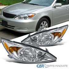 Fit 02-04 Toyota Camry LE XLE SE Clear Headlights+Corner Signal Lamps Left+Right