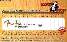 Fender Stratocaster (Orange Logo) Headstock Waterslide Decals