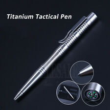 High Quality Self-Defense Titanium Tactical Pen With Compass Tungsten Steel Head