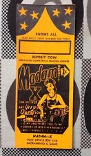 1950's Madam X 1 Cent Coin Op Fortune Teller Napkin Disp. Menu Holder Paper Ins