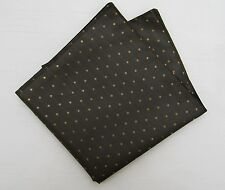 Pocket Square - Bronze & Gold Pin Spot Satin - Hanky Handkerchief - Made in UK