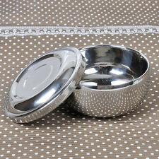 Double Layer Stainless Steel Shinnying Shaving Mug Bowl Cup w/Lid for brush Soup