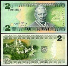 LITHUANIA 2 LITAI 1993 P54 UNCIRCULATED